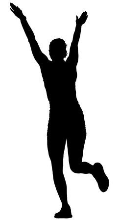 personal trainer: Fitness instructor vector silhouette illustration isolated on white background. Sport, training, gym and lifestyle concept. Dancer silhouette vector. Illustration