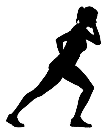 aerobics class: Fitness instructor vector silhouette illustration isolated on white background. Sport, training, gym and lifestyle concept. Dancer silhouette vector. Illustration