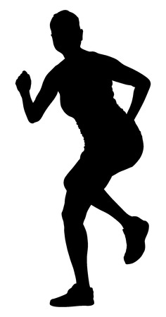 fitness instructor: Fitness instructor vector silhouette illustration isolated on white background. Sport, training, gym and lifestyle concept. Dancer silhouette vector. Illustration