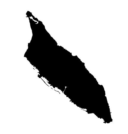 Aruba vector map high detailed silhouette illustration isolated on white background. Illustration