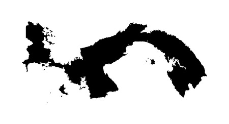 panamanian: Panama vector map isolated on white background. High detailed silhouette illustration. Illustration