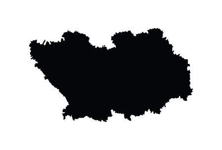 Penza Oblast vector map isolated on white background. High detailed silhouette illustration. Russia oblast map illustration