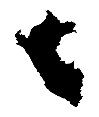lima province: Peru vector map isolated on white background. High detailed silhouette illustration.