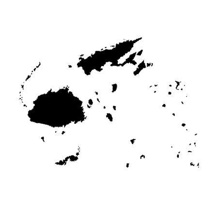 fijian: Fiji vector map isolated on white background silhouette. High detailed illustration.