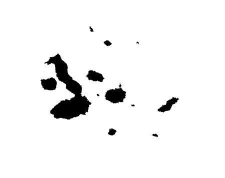 bathymetry: Galapagos Islands, vector map isolated on white background. High detailed silhouette illustration.