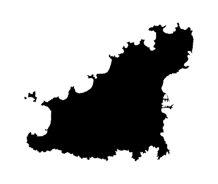 guernsey: Guernsey vector map isolated on white background silhouette. High detailed illustration.