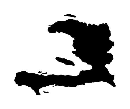 Haiti vector map isolated on white background. High detailed silhouette illustration. Vector Illustration
