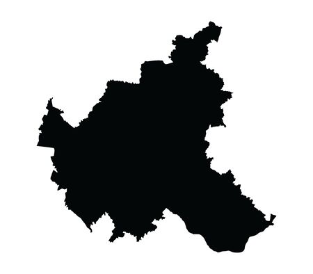 Hamburg map silhouette vector, high detailed black silhouette illustration isolated on white background. Province in Germany.