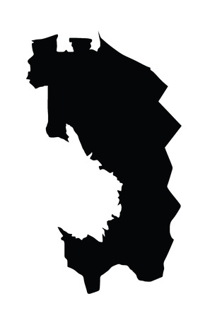 oblast: Republic of Ingushetia vector map isolated on white background. High detailed silhouette illustration. Russia oblast map illustration.
