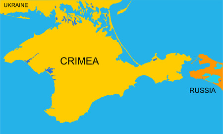 Autonomous Republic of Crimea - vector map, isolated on white background. High detailed silhouette illustration. Russia oblast map illustration. Illustration