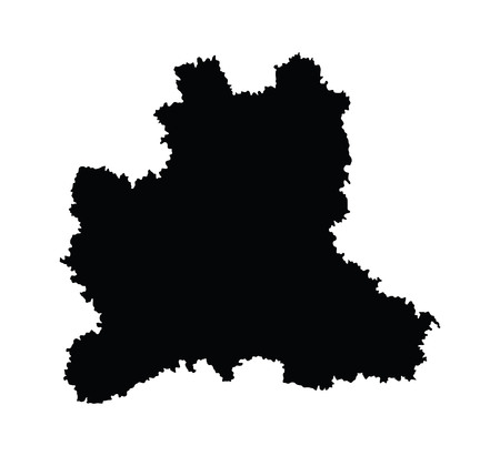 oblast: Lipetsk Oblast vector map isolated on white background. High detailed silhouette illustration. Russia oblast map illustration. Lipetskaya oblast map.