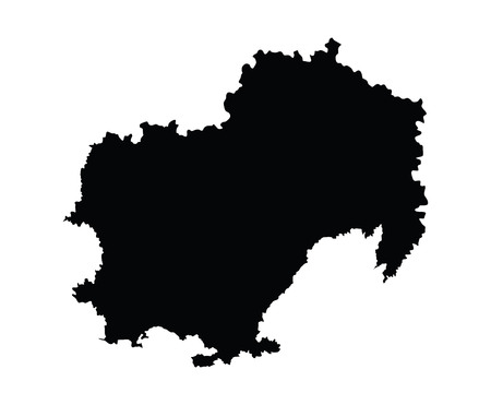 oblast: Magadansk oblast, Magadanskaya oblast vector map, isolated on white background. High detailed silhouette illustration. Russia oblast map illustration. Illustration