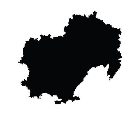 stalin: Magadansk oblast, Magadanskaya oblast vector map, isolated on white background. High detailed silhouette illustration. Russia oblast map illustration. Illustration