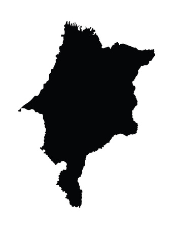 para: Maranhao, Brazil, vector map isolated on white background. High detailed silhouette illustration.