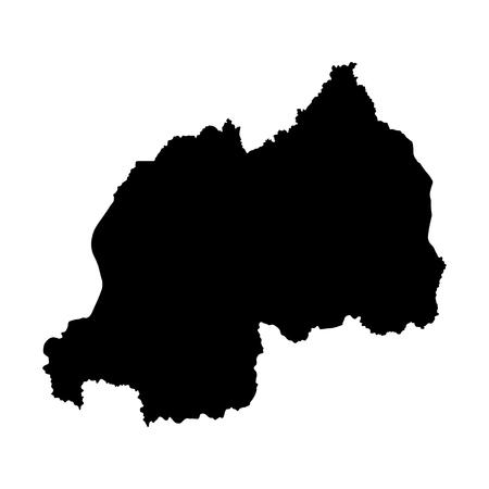 rwanda: Rwanda vector map isolated on white background. High detailed silhouette illustration.