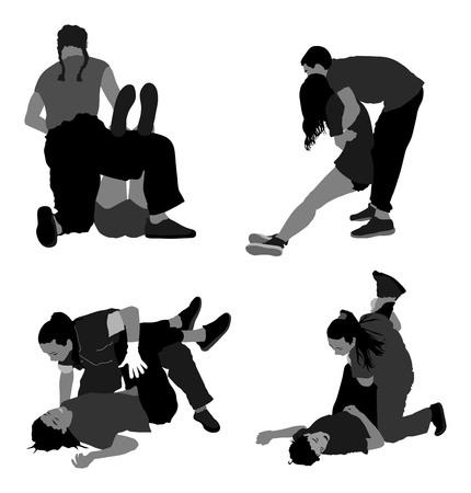 Rescue verdrinking EHBO silhouet illustratie. Patiënt te redden. Dronken persoon overdosis after party. Sneak aanval slachtoffer te redden. Cpr reddingsteam. Slachtoffer van de brand evacuatie. Aardbeving te redden. Stockfoto - 69215790