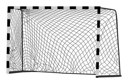 Soccer goal vector. Handball vector construction with net. Footsal goal. Illustration