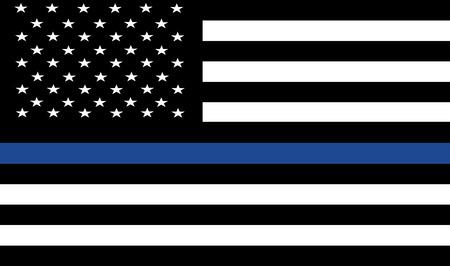 black american: American police flag vector.