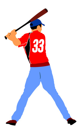 baseball player vector baseball batter hitting ball with bat rh 123rf com Baseball Diamond Vector Baseball Player Batter Clip Art