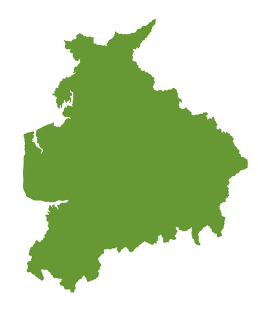 Lancashire vector silhouette map county in north west England.