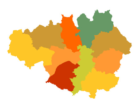 manchester: Vector map of Greater Manchester in North West England, United Kingdom.