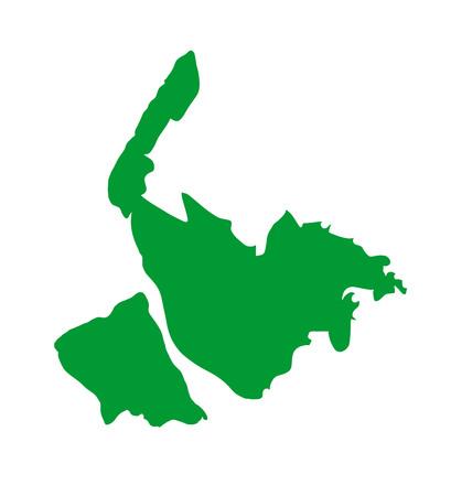 Vector map of Merseyside in North West England, United Kingdom.