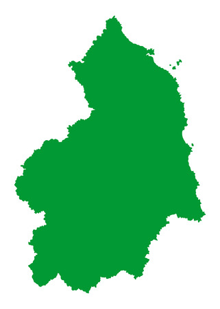 wales: Northumberland vector silhouette map county in North East England.