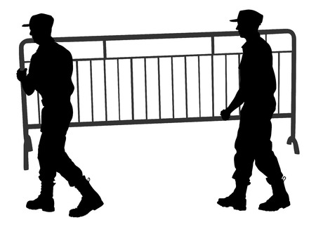 labor strong: construction workers character silhouette carrying tools and building materials on hands isolated on white background. Delivery service moving transport,  workers carrying vector silhouette illustration. Handyman job.