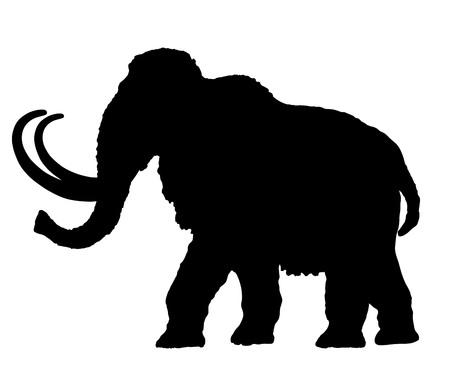 Mammoth silhouette vecteur illustration isolé sur fond blanc. Vecteurs