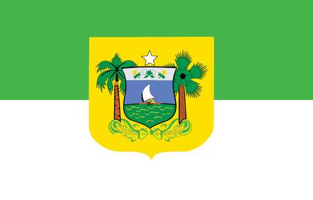 Rio Grande do Norte Flag, Brazil. Vector design. Original and simple Rio Grande do Norte flag isolated vector in official colors and Proportion Correctly