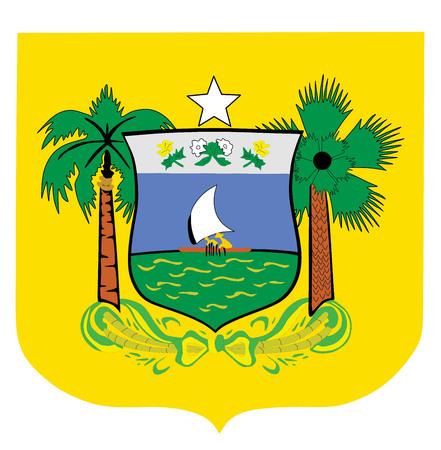 Coat of arms of Rio Grande do Norte Flag, Brazil. Vector design.