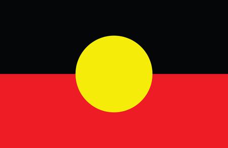 Australian Aboriginal flag vector. Illustration