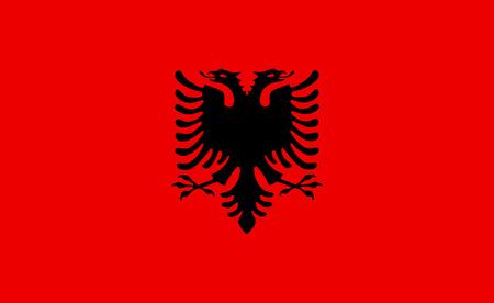 Albanië vector vlag. Stock Illustratie
