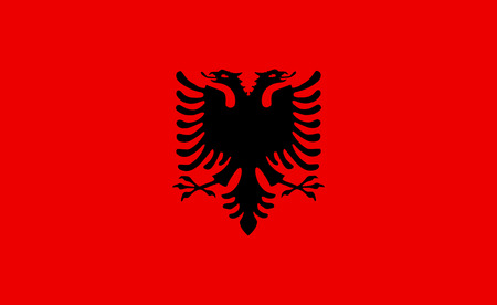 Albania vector flag. Illustration