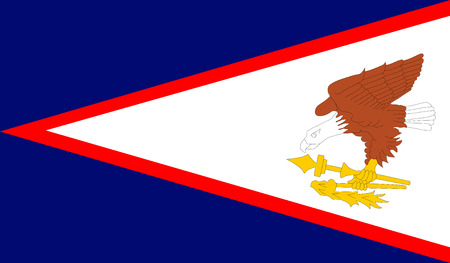 Vector flag Of American Samoa. Illustration