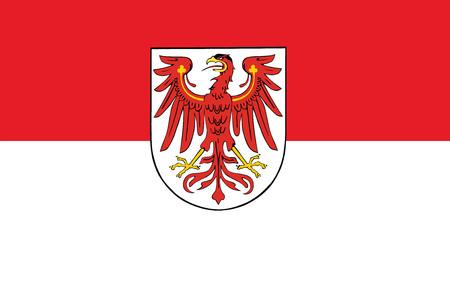 education policy: Vector flag of Brandenburg, Germany.