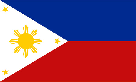 original and simple Republic of The Philippines flag isolated vector in official colors and Proportion Correctly The Philippines is a member of Asian Economic Community (AEC)