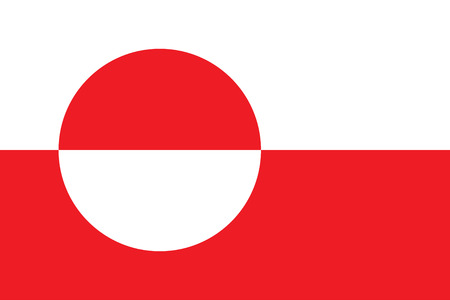 greenlandic: Greenland flag vector. Illustration