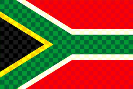 South Africa flag abstract.