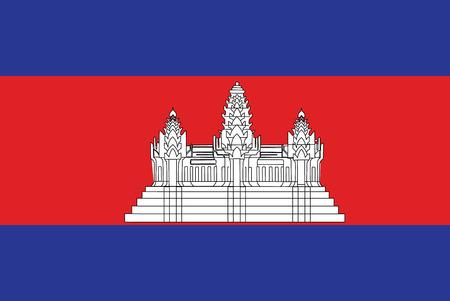 Cambodia vector flag.