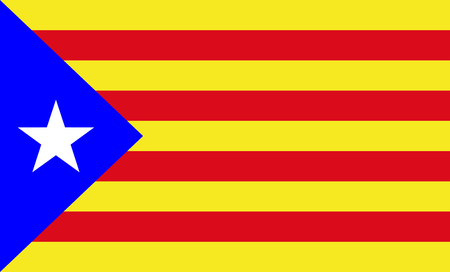 Catalonia flag  vector, Spain provance territory.