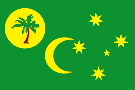 National vector flag of Cocos Islands and Keeling Islands with correct proportions. Illustration