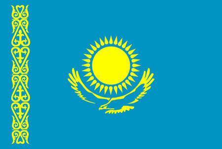 Vector flag of Kazakhstan. Ilustrace