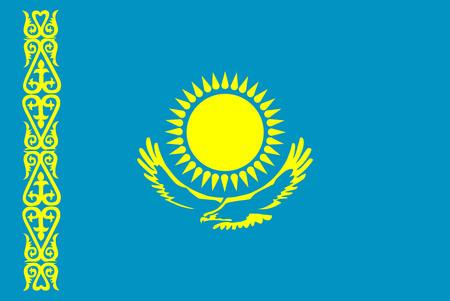 kazakhstan: Vector flag of Kazakhstan. Illustration