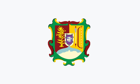Vector flag of Nayarit state, Mexico. Ilustração