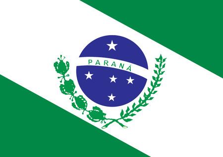 vista: Parana flag vector, Brazil state.