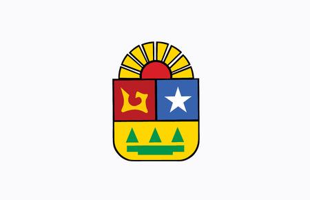 Quintana Roo, Mexico, vector flag.