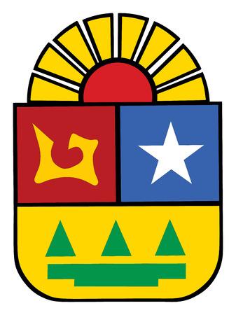 Quintana Roo, Mexico, vector coat of arms.