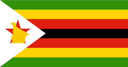 Zimbabwe Flag vector. African country flag. Illustration
