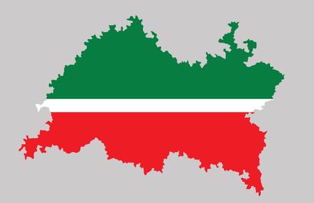 공화국의 타타르 공화국지도입니다. 스톡 콘텐츠 - 89618280